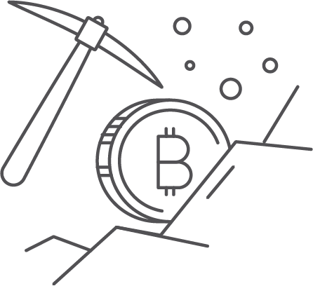 The blockchain depends 100% on mining process.